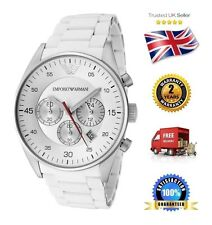 NEW Emporio Armani AR5859 White Men's Gents Unisex Chronograph Watch White Dial