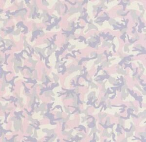 Girls Pink Camouflage Glitter Wallpaper