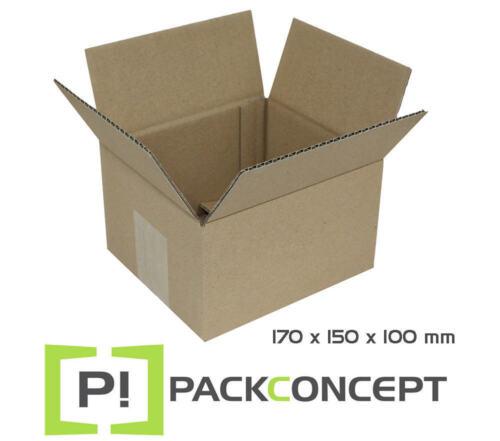 Faltkarton 170 x 150 x 100 mm; Karton; Pappkarton; Versandkarton