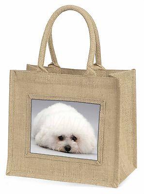 Bichon Frise Hund Große Natürliche Jute-einkaufstasche Weihnachten , AD-BF1BLN