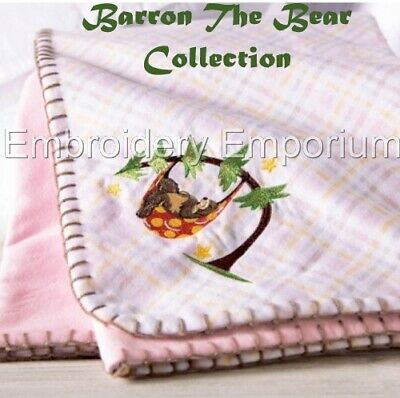 MACHINE EMBROIDERY DESIGNS ON CD OR USB BARRON THE BEAR COLLECTION