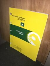 John Deere Operators Manual 915 Rotary Roll Mower Conditionermanual