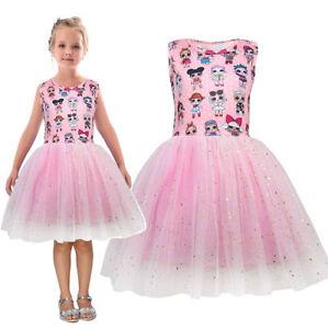 b857350429b90f Détails sur LOL Surprise Dolls Fille Robe Princesse Costume Cosplay Enfant  Tulle Tutu Robe