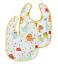 Jirafa Diseños de dinosaurio de Rana para Bebé//Niño Nuby Twin Pack captar todos Babero 6m
