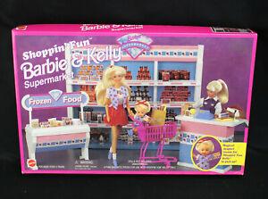 1996 Mattel Shoppin' Fun Barbie & Kelly Supermarket Playset 67507 NIB New/Sealed