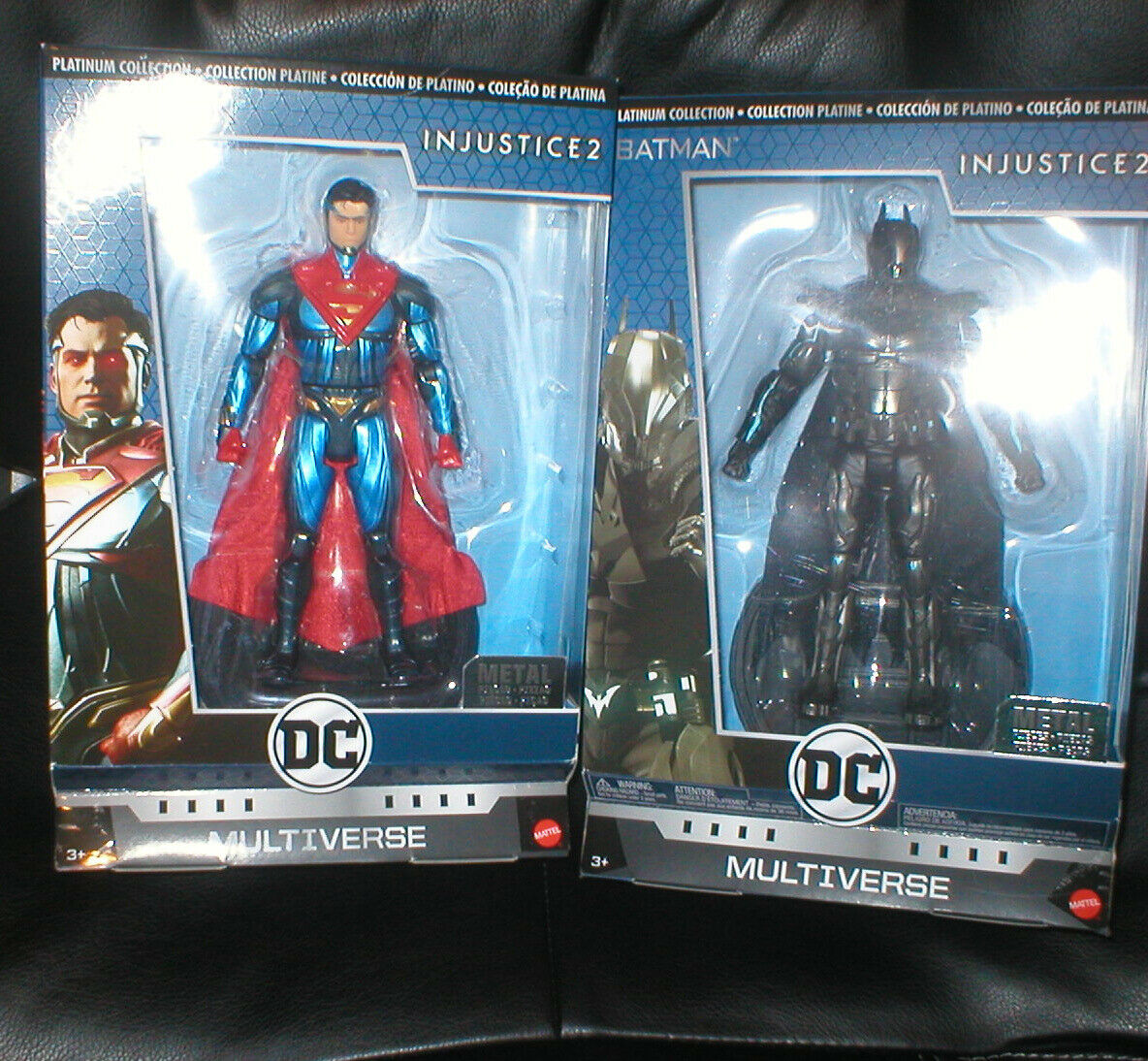 DC MULTIVERSE PLATINUM COLLECTION SUPERMAN & BATMAN INJUSTICE FIGURES , UNOPENED