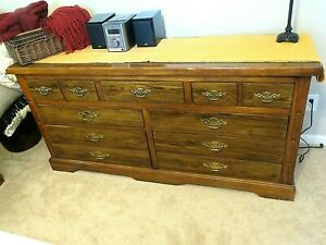 Bedroom Set By Lea Dresser With Two Night Tables And Queen Headboard Ebay