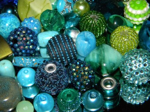 NEW 30//Pc Ocean Surf Blue//Green//Teal Colors Jesse James Beads LOT RANDOM Beads