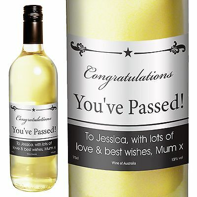 Personalised White Wine Black Border Design - Father's Day, Congratulations