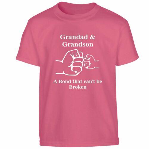 Grand-père//PETIT-FILS father/'s Day légende Papa Love Papa Kids T-Shirt Cadeau D/'Anniversaire