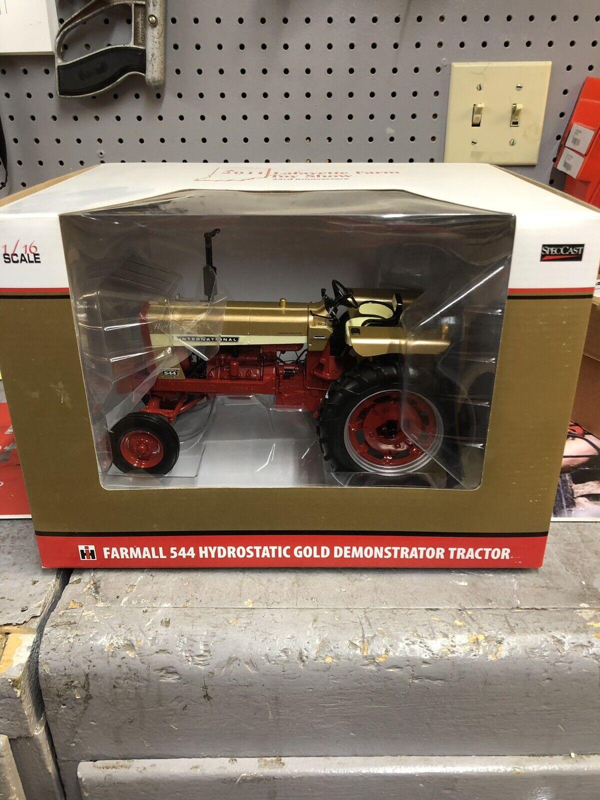 CaseIH. 544 Hydrostatic gold Demonstrator Toy Tractor. Farmall.