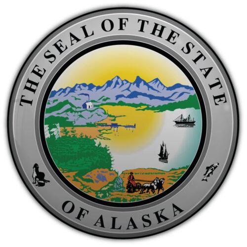 "Alaska USA State Emblem voiture autocollant Decal /""Tailles/"""