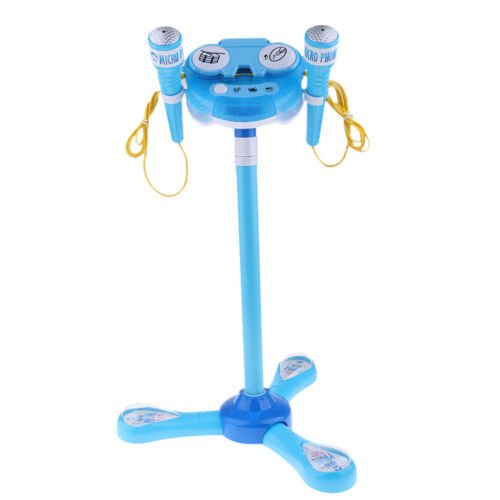 Kids Karaoke Machine With 2 Microphone Adjustable Stand Music Play Toys