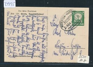 Warburg Z.354 24595 Whw Ga Stettin 1935 Bahnpost Ovalstempel Münster Owl