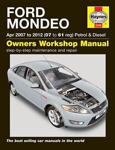ford mondeo petrol diesel 2007 2012 haynes manual new 5548 ebay rh ebay co uk
