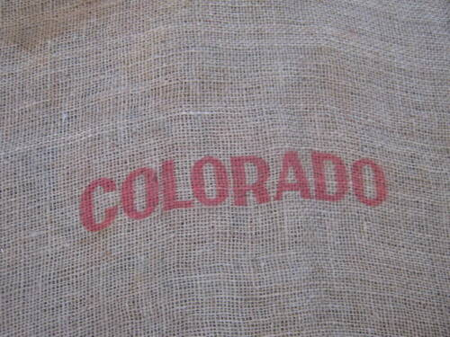 Vintage Sangre De Cristo Potatoes CO USA Burlap Sack