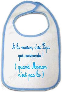 Bavoir Bébé Bleu Biscuit Ourson Croqué avec Prénom Personnalisé