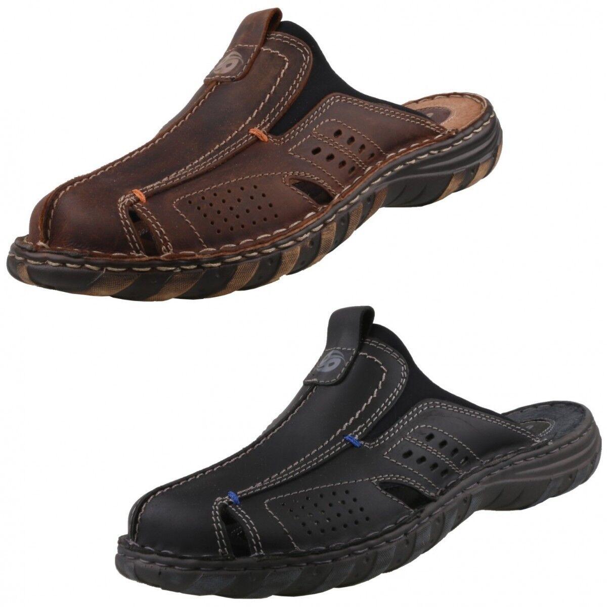 Neu DOCKERS Sandalen CLOGS Herren-Schuhe Pantoletten Sandalen DOCKERS HerrenSandale Sabot Leder ba4443