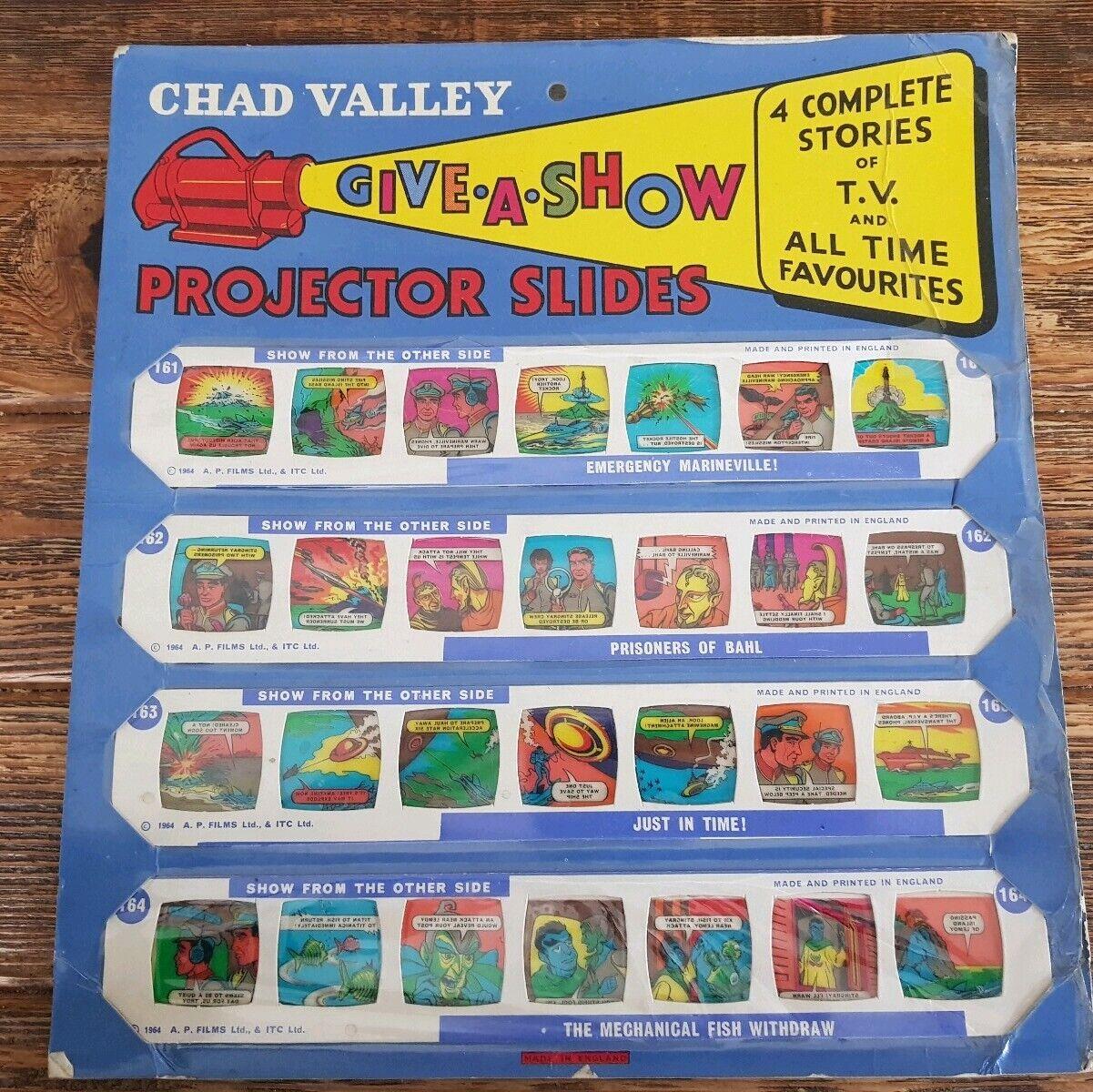 Chad Valley dar un show 'Stingris' 161-164 Proyector Diapositivas 1964 sin usar sin abrir