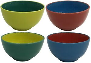Set-of-4-Bright-Coloured-Large-Ceramic-Cereal-Bowls-Soup-Bowls