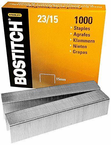 4 x 1000 Stück Bostitch 23//15 1M Heftklammer Größe 12 x 15 mm