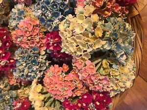 20-bunches-of-Vtg-Millinery-Flowers-Forget-Me-Not-in-Mixed-Pink-Blue-Rose-Yellow