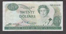 VF NEW ZEALAND  P.175b  100 DOLLARS SIG RUSSELL PFX YAD QEII  EXTREMELY FINE