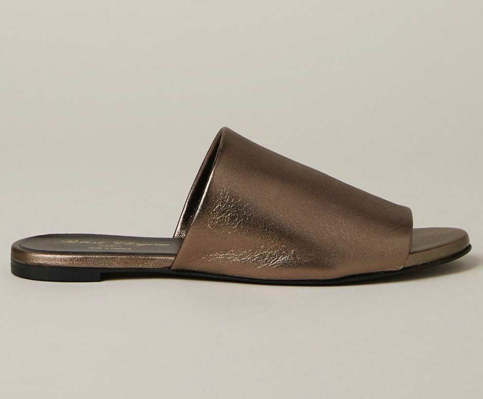Robert Clererie Gatok Gato Itou Slides Sandals Mules Metallic Leather  39 US 8.5  in vendita online