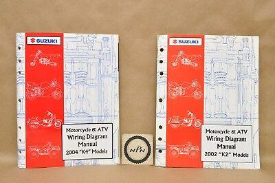2002 2004 Suzuki K2 K4 Full Line Motorcycle Atv Wire Wiring Diagram Manual Lot Ebay