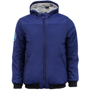 Adidas Originals Zip Up Dark Blue Nylon Junior Hood Coat Jacket