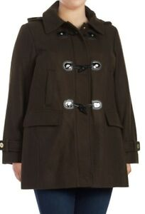 6d397a1a202 NWT Michael Kors Plus Olive Wool-Blend Hooded Toggle Women s Duffle ...