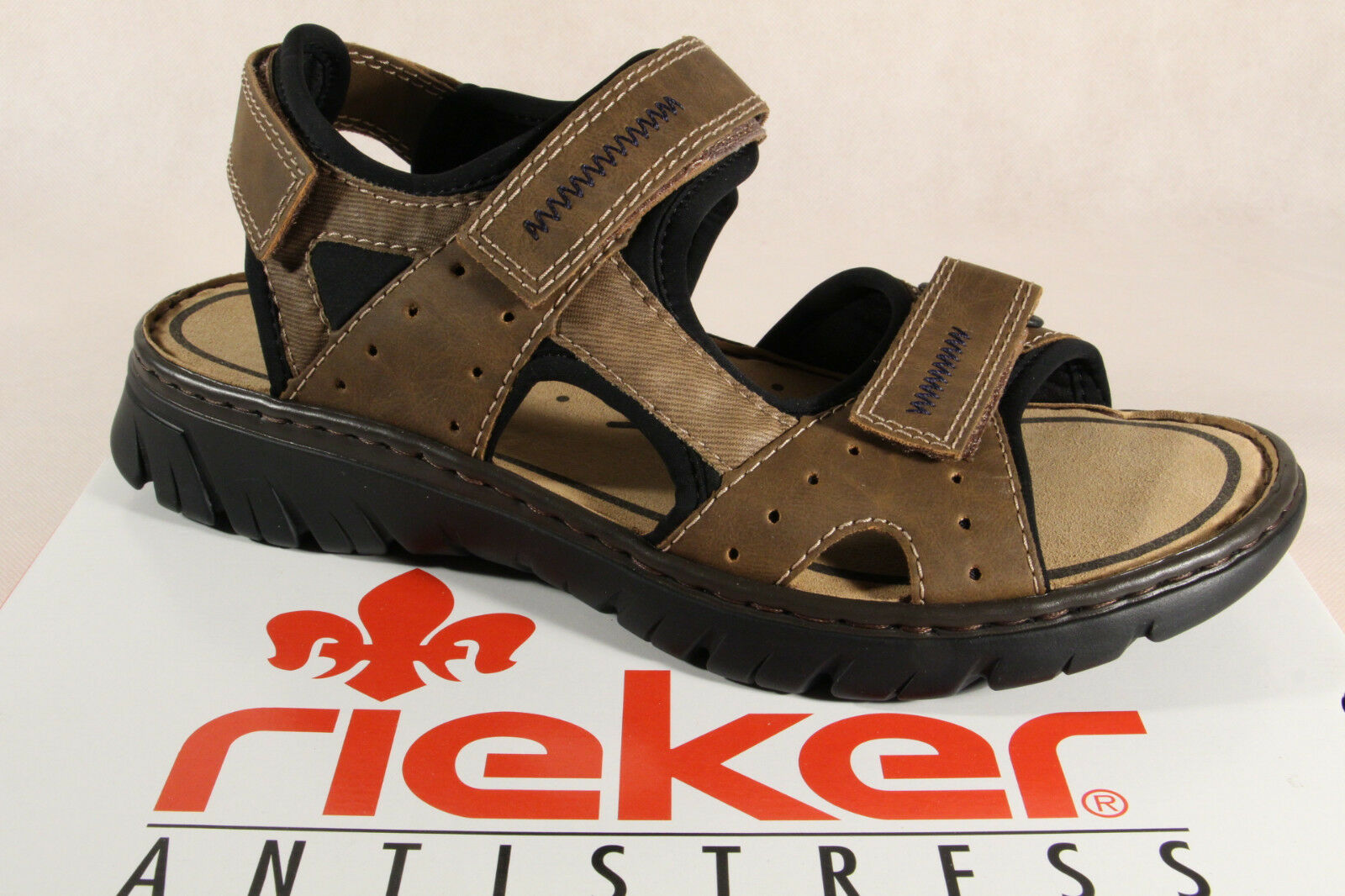 Rieker Sandals Sneakers Brown Touch Fastener 26757 NEW