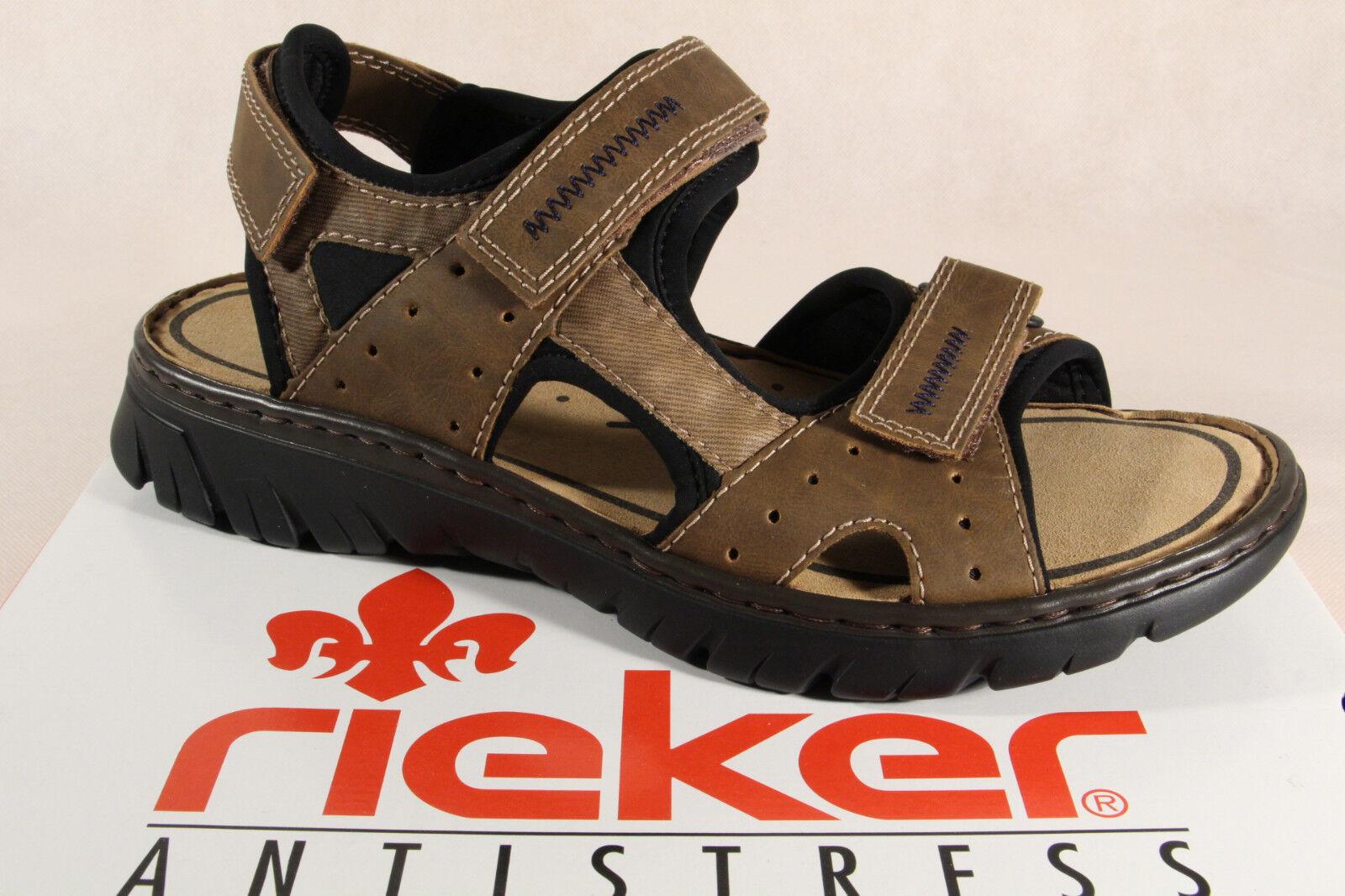 Rieker Sandalen Sandaletten braun Klettverschluss  26757  NEU