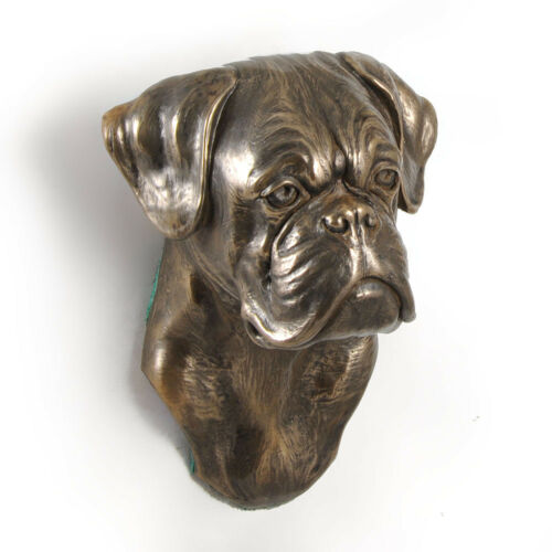 Art Dog Limited Edition dog statuette to hang on the wall USA Boxer Uncropped