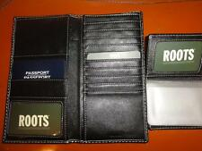 PASSPORT TRAVEL  LEATHER WALLET WITH  CARD/PICTURE HOLDER MADE BY ROOTS