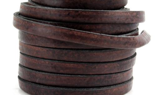 1 m Kunstlederband antik braun 5 x 2 mm armband herstellen