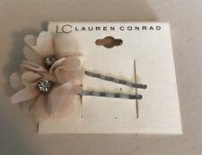 NWT Lauren Conrad Flower Rhinestone Bobby Pins