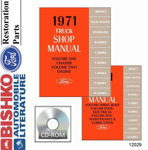 1971 Ford Truck Shop Service Repair Manual CD Engine Drivetrain Electrical OEM