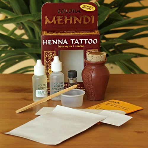 Colora Mehndi Henna Temporary Tattoo Kit With Stencils Ebay