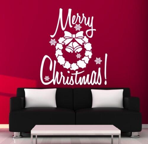 Window Christmas Wall Sticker Art Shop Quote Decal Art kit3