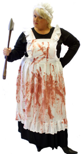 EVIL HOUSEKEEPER VICTORIAN HALLOWEEN//HORROR FANCY DRESS COSTUME All Sizes