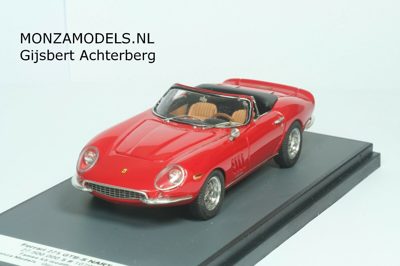 Ferrari 275 GTB4 NART spyder  Tameo built kit in BBR showcase