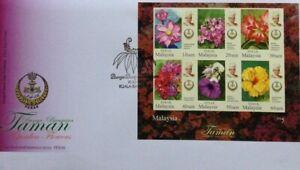 Malaysia FDC with Miniature Sheet (21.03.2016) - Perak Garden Flowers