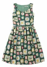 Cath Kidston Clocks Print Fifties Vintage Dress (Size 12) Sold Out