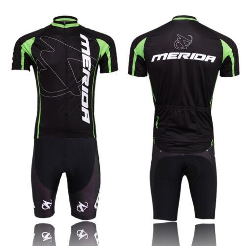 Merida Team Men/'s MTB Bike Bicycle Clothing Set Cycling Jersey /& Bib Short Set