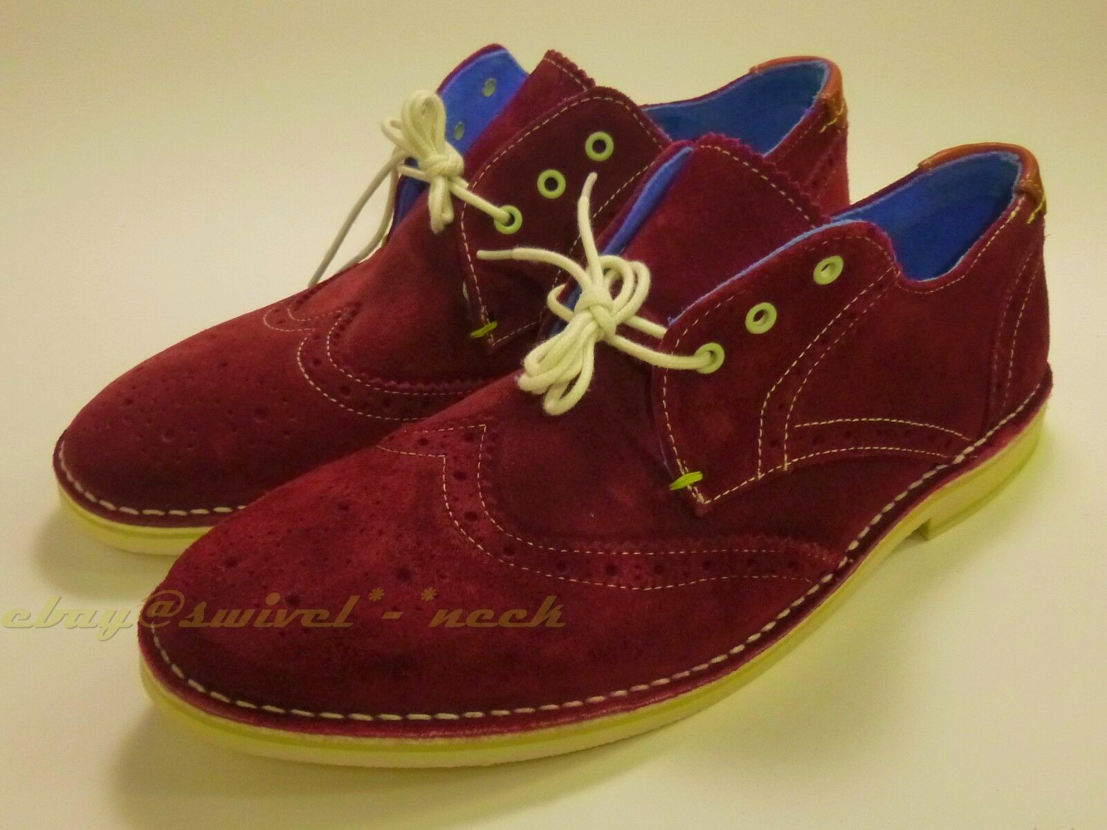 Ted Baker New no box Jamfro 10.5 D wingtip suede Brogues Men Maroon EUR 43.5 rot