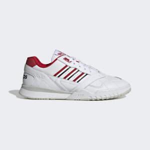 Homme Adidas A.R. Sneaker Cloud blanc/rouge écarlate Baskets Tailles 8-11 UK Entièrement neuf dans sa boîte