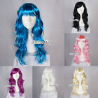60cm Halloween Fancy Long Curly Women Ladies Lolita Cosplay Wigs Party Wig+Gift