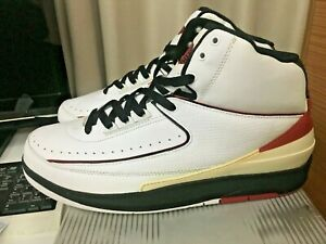 14b545965a23 2004 NIKE AIR JORDAN II 2 RETRO WHITE VARSITY RED BLACK CHICAGO ...