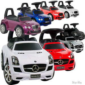 rutschauto rutscher mercedes sls bentley lizenz bobbycar. Black Bedroom Furniture Sets. Home Design Ideas